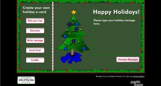 Retro Portfolio: Holiday E-Card System