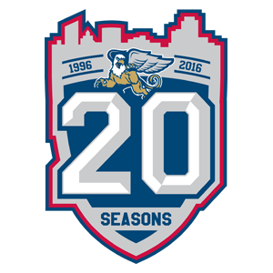 An updated version of my Griffins 20th season logo.