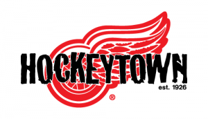 """The Detroit Red Wings' """"Hockeytown"""" logo"""