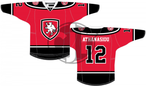 A bright red version of my Grand Rapids Griffins jersey concept.