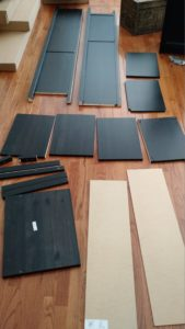 """An unboxed Ikea """"Hemnes"""" bookcase"""