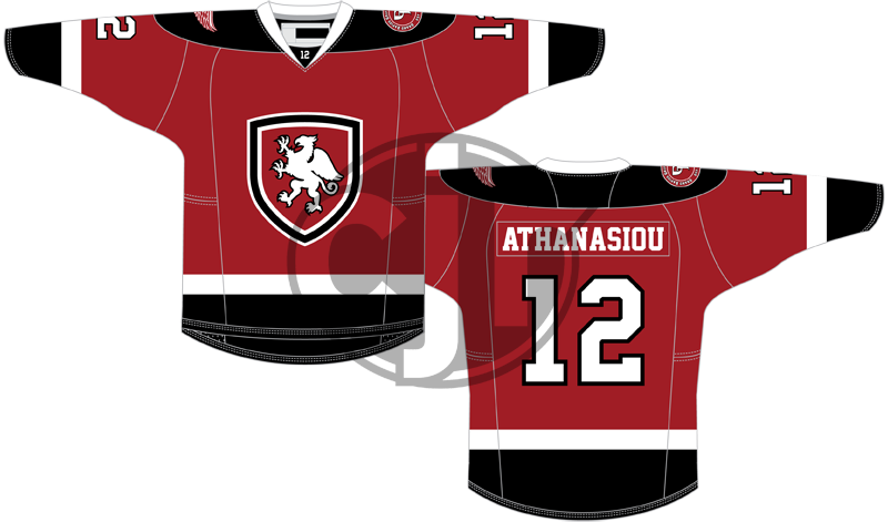 The first version of my concept for the Griffins' 2016 jersey design contest.