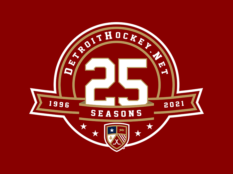 DetroitHockey.Net 25th Season Logo Design